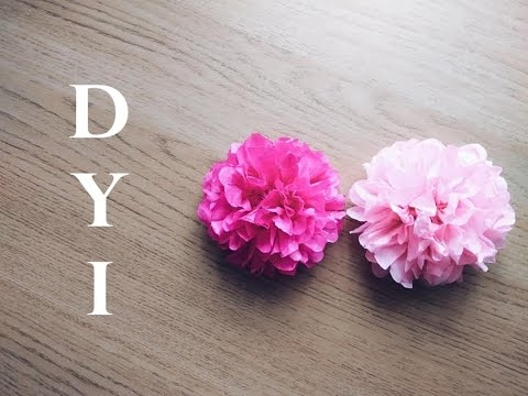 DIY Tissue Paper Flower Tutorial _ Simple and easy Tutorial how to make tiny tissue paper flowers