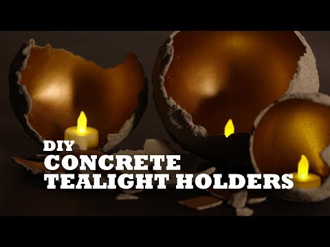 DIY Concrete Tealight Holders