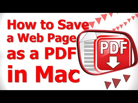 How to Save a Web Page as a PDF in Mac