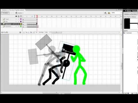 Flash stickman Watch me animate (speed)