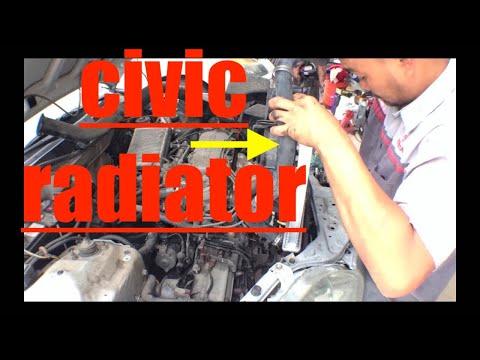 SIMPLE Diagnose Replace Radiator Honda Civic √ Fix it Angel