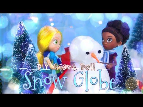 DIY - How to Make: GIANT Doll Snow Globe | EASY | NO WATER | GoldieBlox & MyFroggyStuff s. 4/7