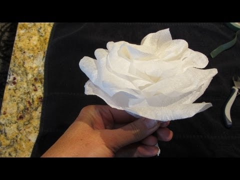 Make a Paper Rose Out of a Napkin Tutorial Great Wedding Decorations