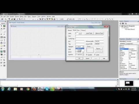 VB 6 Program to create status bar with coding