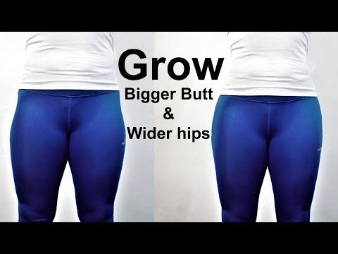 Grow your butt & hips|how to get a bigger butt&wider hips|6 exercise to increase buttocks&large hips