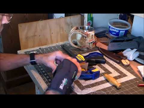 Part 5-7: Hand Stitching a Stacked Leather Knife Sheath