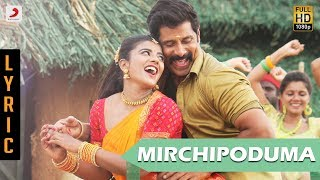 Saamy Telugu - Mirchi Poduma Lyric | Chiyaan Vikram, Ishwarya Rajesh | Hari | Devi Sri Prasad