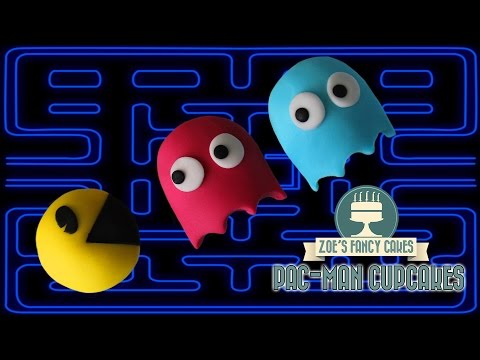 Pac-man cupcakes: how to make pac-man and ghosts cupcakes Pixels movie gaming cakes