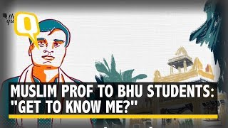 """Muslim Professor Teaching Sanskrit in BHU Asks, """"Get to Know Me Better?"""" 