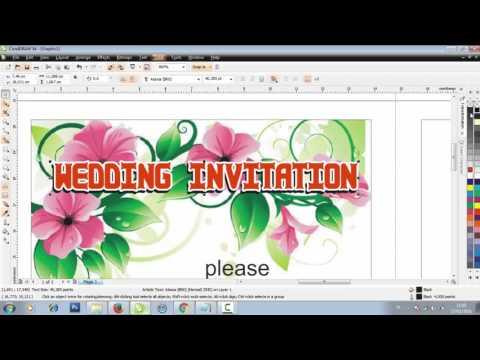 Make a Wedding Invitation Design IN CORELDRAW