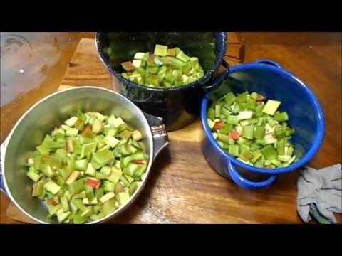 DIY: Making rhubarb jams straight from your own rhubarb patch