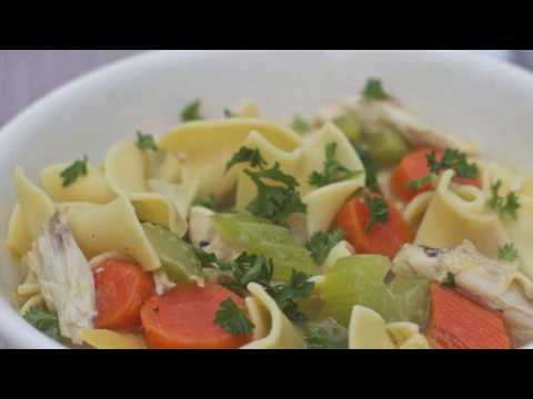 Classic Old Fashioned Homemade CHICKEN NOODLE SOUP - By Happy Twirl