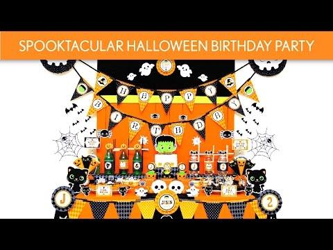 Spooktacular Halloween Birthday Party Ideas // Spooktacular Halloween - B121