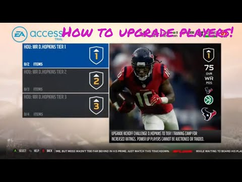 Madden 18 Ultimate Team How to upgrade players