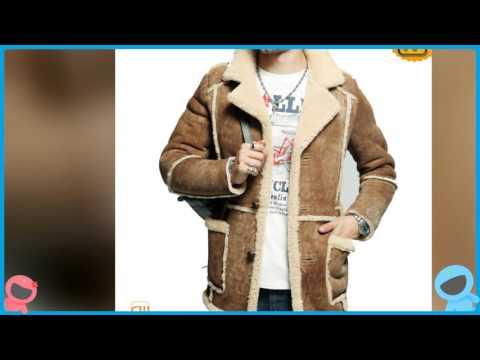 Men's Fur Trimmed Sheepskin Coat CW878127 | jackets.cwmalls.com