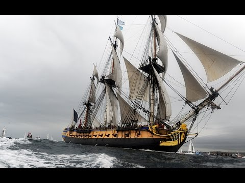 Replica of General Lafayette's ship returns to France
