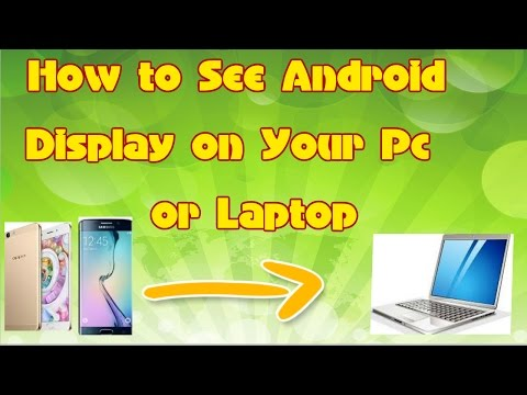 How To View Phone  Screen On PC Or Laptop With Screen Mirror