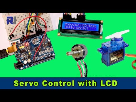 Control Servo with potentiometer and LCD1602 LCD display