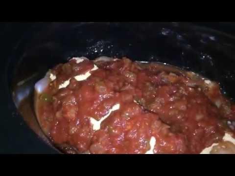Crockpot chicken for tacos, burritos or enchiladas