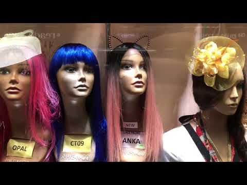 wigs anyone? Fulton Mall, Brooklyn, New York (2-11-18)