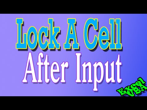 Lock a Cell for Editing IMMEDIATELY After Changing it - Excel VBA Is Fun - Speedtip!