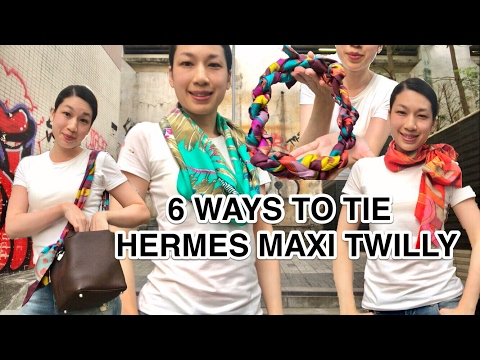 6 WAYS TO TIE AN HERMES MAXI TWILLY
