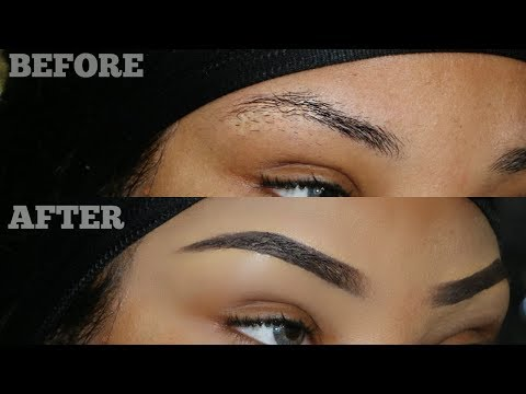 HOW TO: CLEAN/SHAPE & TRIM YOUR BROWS AT HOME! + TUTORIAL