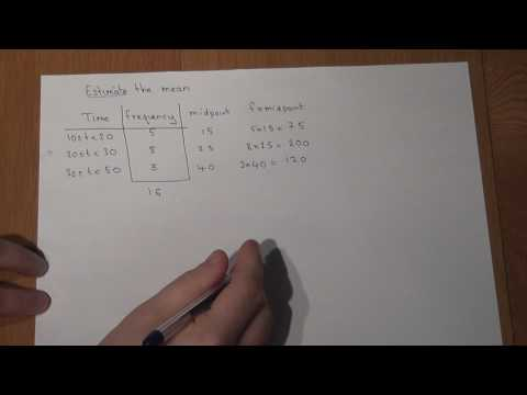 GCSE Maths: How to easily estimate a mean from a table using midpoints