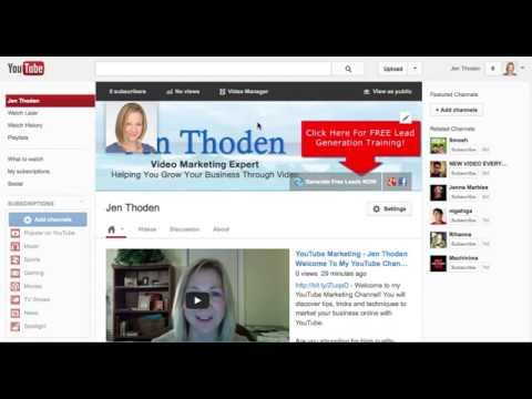 YouTube Marketing Tip - How To Change Your YouTube Channel URL 2013