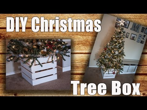 DIY Wooden Christmas Tree Collar Box (Tree Skirt Alternative) $5 Project