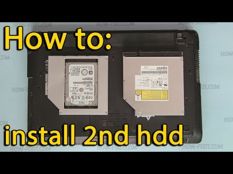 How to install second hdd in Asus A52 X52 K52 laptop | DVD drive replacement