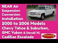 How To Fix The Rear  Suspension On A GMC Yukon