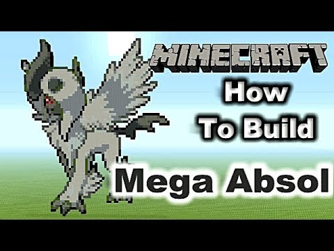 Minecraft Pixel Art Tutorial - How To Build Mega Absol (Pokemon)