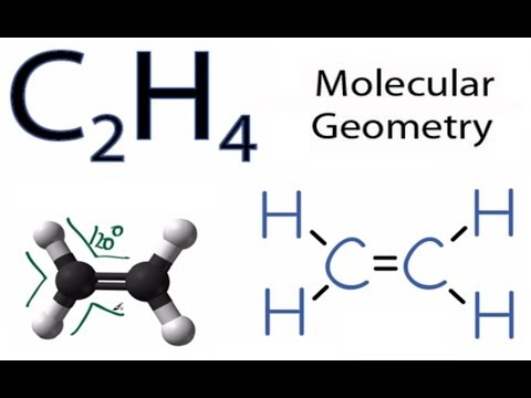 C2H4 Molecular Geometry / Shape and Bond Angles