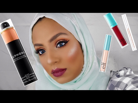 TESTING SEPHORA SPRAY FOUNDATION (almond) & OTHER PRODUCTS