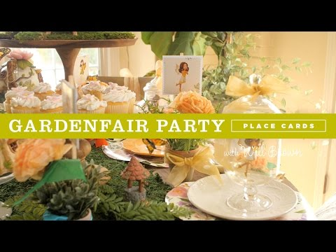 DIY Fairy Garden Party Ideas:  place cards and party favors