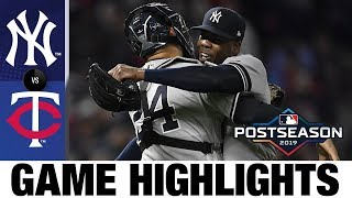 New York Yankees complete sweep of Twins to advance to ALCS! | Yankees-Twins Game Highlights