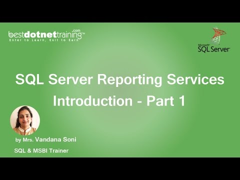 SSRS Tutorial - SQL Server Reporting Services Introduction - Part 1