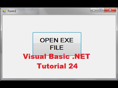Visual Basic .NET Tutorial 24 - How to launch Executable (.exe) file from chosen Directory