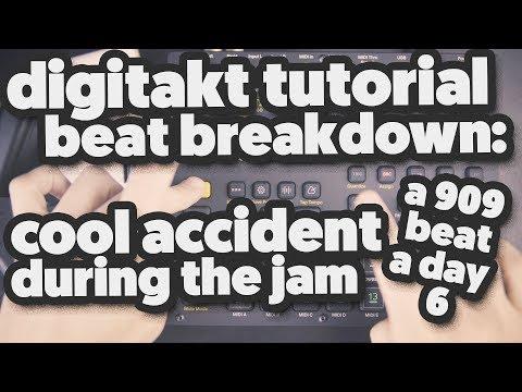 DIGITAKT TUTORIAL (beat breakdown) [a 909 beat a day] 6