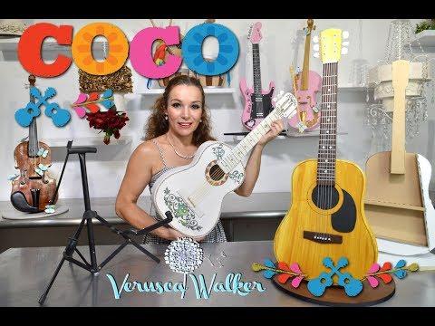 Coco Accoustic Guitar Cake interactive
