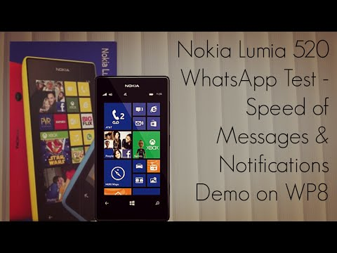 Nokia Lumia 520 WhatsApp Test - Speed of Messages & Notifications Demo on WP8