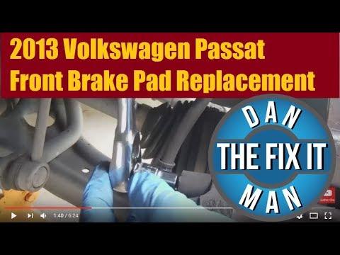 2013 Volkswagen Passat Front Brake Pad Replacement - DIY