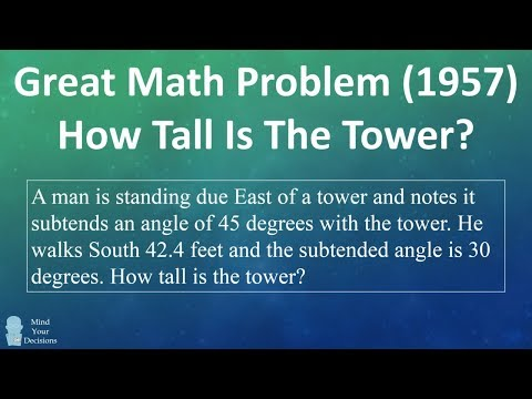 Amazing 1957 Math Problem - How Tall Is The Tower?