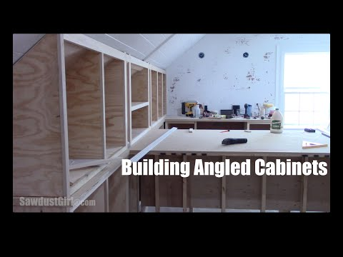 How to Build Angled Cabinets