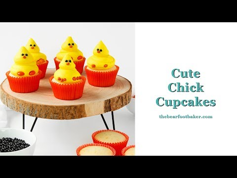 How to Make Cute Chick Cupcakes