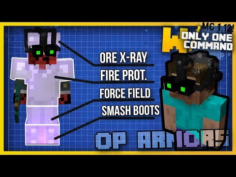 Minecraft - OP ARMOR With Only One Command! (1.12 command)