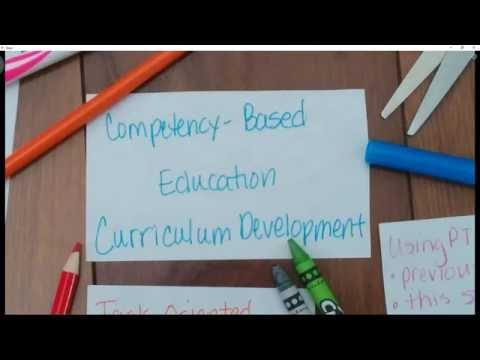 Competency Based Education Curriculum Development