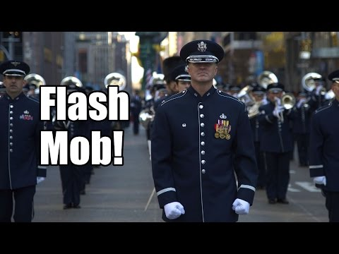 Flash Mob!  U.S. Air Force Band at Smithsonian