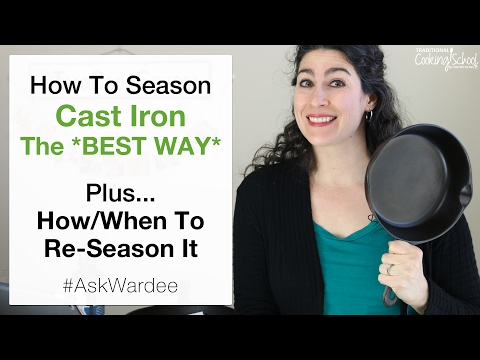 How To Season Cast Iron *Best Way* Non-Stick Finish + How/When To Re Season It   #AskWardee 062